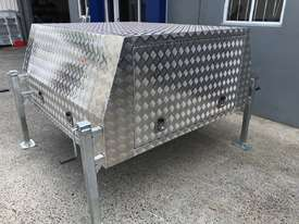 Aluminium Dual Cab Canopy Toolbox Jack Off Canopy Ute Toolbox 1780x1800x850mm - picture1' - Click to enlarge