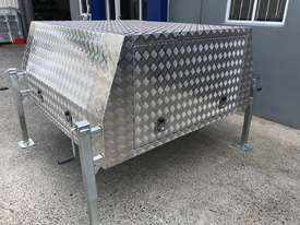 Aluminium Dual Cab Canopy Toolbox Jack Off Canopy Ute Toolbox 1780x1800x850mm - picture2' - Click to enlarge
