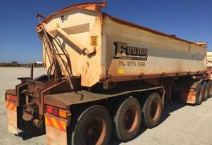2012 PROCAMAN PCF TRI435 SIDE TIPPER TRAILER
