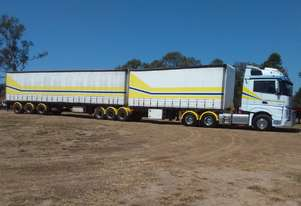 Mercedes Actros B Double Tautliner Combo - Roadtrain Rated