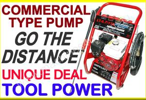 Water Blaster TOOL POWER 7-HP + H/D Pump = NEW++++