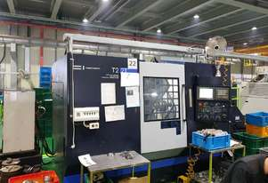 2014 Model Hwacheon T2-2T-YSMC Integrated Multi Axis turning center.