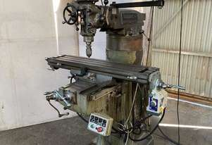 Bridgeport J Milling Machine R8 spindle with DRO