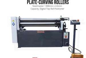 1300mm x 4.5mm Single Pinch Powered Rollers With Cone Rolling Attachment