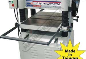 T-20 Thicknesser - HSS Blades 508 x 200mm (W x H) Material Capacity  Includes 4 x High Speed Steel B