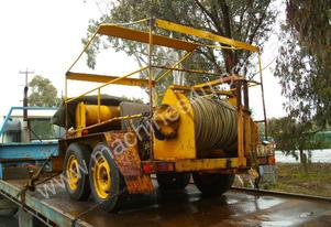 450mtr cable line haul winch , kevlar rope ,