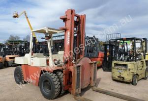 NISSAN 7 TONNE FORKLIFT WITH ROTATOR NEAR NEW TYRES AND LOW HOURS