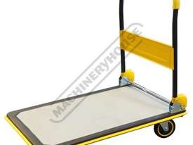 RST-300 Platform Trolley - 300kg Capacity 915 x 615mm Platform 4 x Ø127mm Rubber Wheels - picture0' - Click to enlarge