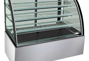 F.E.D. SL830 Bonvue Chilled Curved Glass Food Display - 900mm