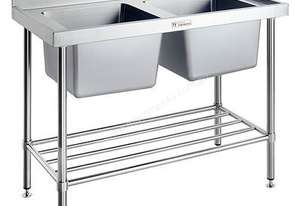 Simply Stainless Double Sink Bench - SS06.1200