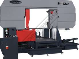 H-1100SAT Semi Automatic Double Column Heavy Duty Metal Cutting Band Saw 1100 x 1100mm (W x H) Squar - picture0' - Click to enlarge