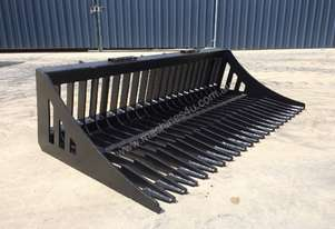 UNUSED SKID STEER 1830MM FLAT BAR RAKE BUCKET