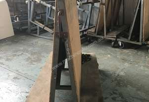 Glass Trolley A Frame Mobile Workshop Double Sided Rack