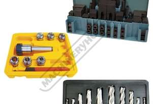 3MT Mill-Drill Accessory Package Deal - Imperial Cutters Includes 3MT Collet Chuck Set, Clamp Kit, E
