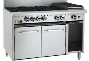 Luus CRO-6B3C 1200mm Oven with 6 Burners & 300mm Chargrill Essentials Series