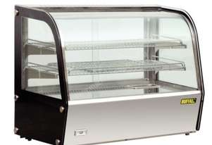 Apuro Heated Countertop Curved Glass Display Cabinet - 100Ltr
