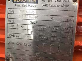 55 kw 75 hp 6 pole 415 volt Brake Electric Motor - picture8' - Click to enlarge