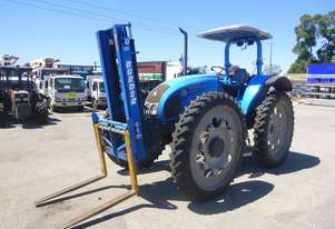 2016 Landini Powerfarm 90HC High Clearance ROPS Tractor with Forks