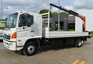 2008 HINO FD 500 Crane Truck Tray Top Tray Top Drop Sides