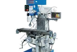HM-51B Workshop Turret Milling Machine Table Travel: (X) - 580mm (Y) - 190mm (Z) - 350mm Includes Di