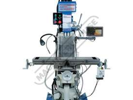 HM-51B Turret Milling Machine (X) 580mm (Y) 190mm (Z) 350mm Includes Digital Readout System & Swivel - picture2' - Click to enlarge
