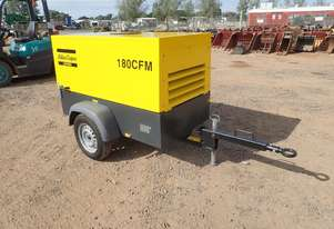 Atlas Copco 180CFM Trailer Mounted Air Compressor