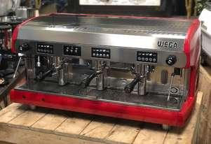 WEGA POLARIS 3 GROUP RED ESPRESSO COFFEE MACHIN