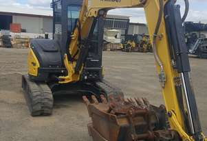 Low Houred Yanmar VIO55-6BC With Tilt Hitch & Buckets!