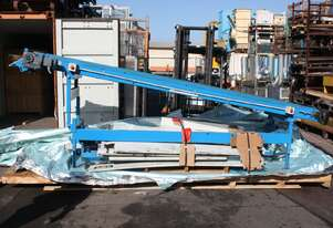 Belt Conveyor adjustable height and angle 4.2m x 750 rubber belt 3 phase 0.18kw