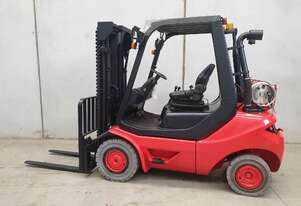 Linde 2.5T LPG Counterbalance Forklift with Container Mast