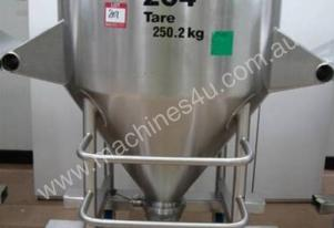 Stainless tote tumble mixer blending bins mixing