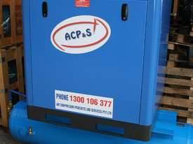 German Rotary Screw - 20hp / 15kW Rotary Screw Air Compressor with Air Receiver Tank - picture1' - Click to enlarge