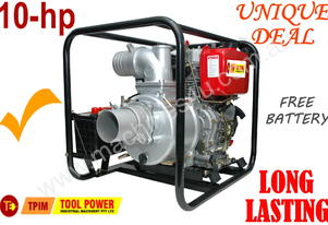Trash pump Diesel 4'' electric start free battery