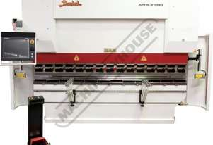 APHS 31090 Hydraulic CNC Pressbrake 90T x 3100mm, 4 Axis, Delem DA66T Touch Screen Control Includes
