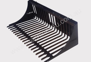 HIGH QUALITY HEAVY DUTY SKID STEER ROUND BAR RAKE