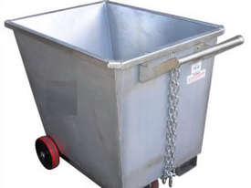 ight Weight Forklift Skip Bin 0.5m2 with Wheels - picture2' - Click to enlarge