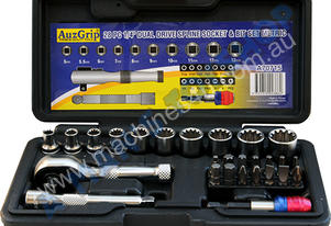 SOCKET & BIT SET 28 PCE 1/4 DR METRIC