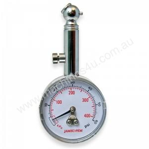 05.2898 ANGLED CHUCK DIAL TYRE GAUGE WITH CASE
