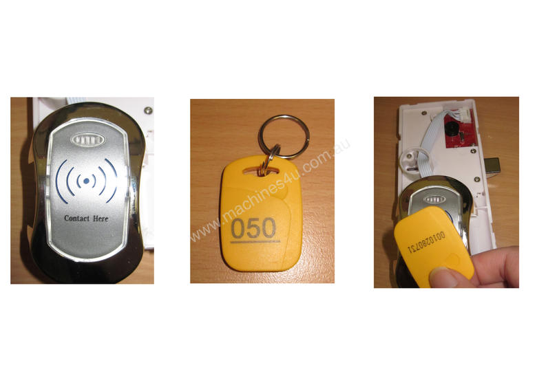 Four Bank Electric Swipe Card System
