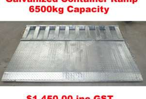 GALVANIZED CONTAINER RAMP