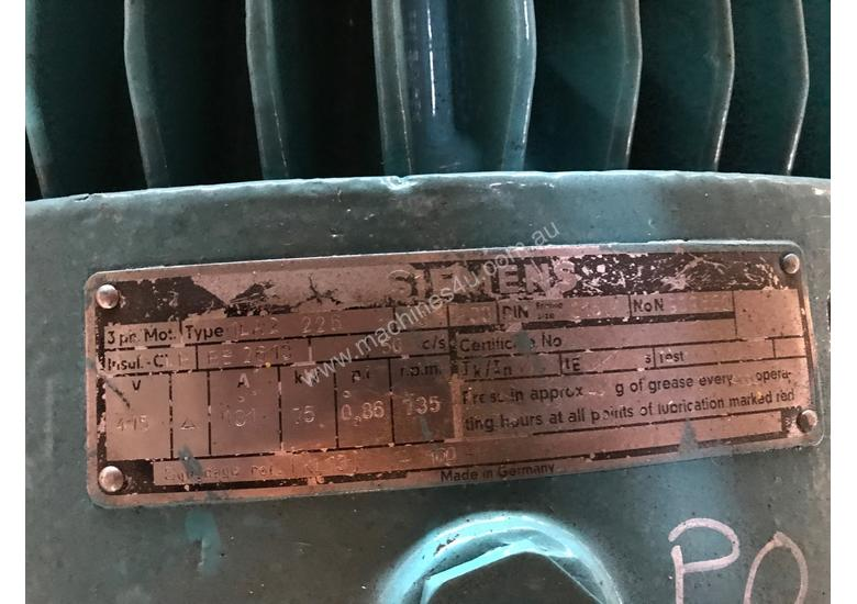 Used siemens 75 kw 100 hp 8 pole 415 v siemens electric for 100 hp electric motor price
