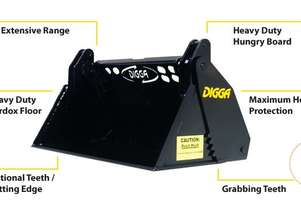 DIGGA 4 IN 1 BUCKET SUIT MINI LOADER KANGA, DINGO, VERMEER, BOXER Bucket-GP Attachments