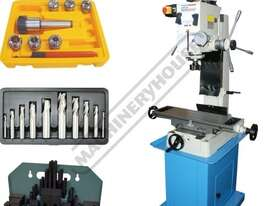 HM-46 Mill Drill Machine & Metric Tooling Package Deal (X) 475mm (Y) 195mm (Z) 450mm Includes Doveta - picture0' - Click to enlarge