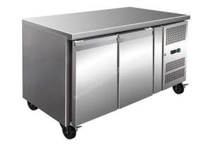 F.E.D. GN2100FER TROPICALISED Solid S/S 2 Doors Gastronorm Bench Freezer