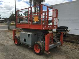 Rough Terrain Scissor lift 1600 hours Including Auto Levelling. A - picture0' - Click to enlarge