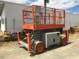 Rough Terrain Scissor lift 1600 hours Including Auto Levelling. A - picture1' - Click to enlarge
