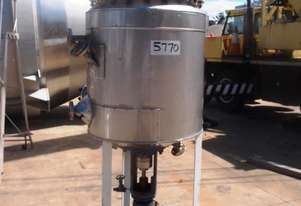 Pressure Vessel (S/Steel Jacketed), Capacity: 250Lt