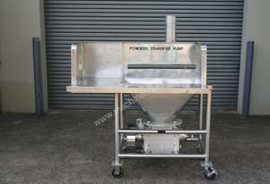 Powder Hopper with Rotary Valve