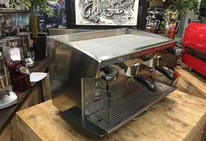 RANCILIO CLASSE 8 2 GROUP HIGH CUP STAINLESS ESPRESSO COFFEE MACHINE