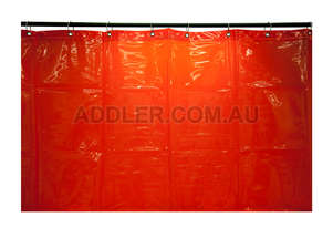 1.8 x 2.0m Red Welding Curtain